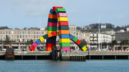 photo de sculpture en conteneur au Havre