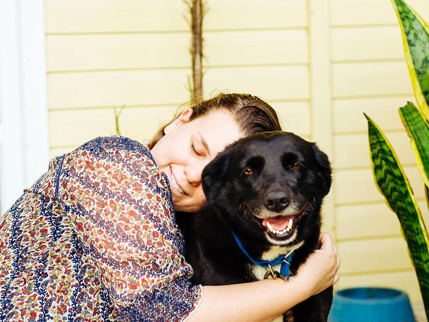 chien diabétique et son maître